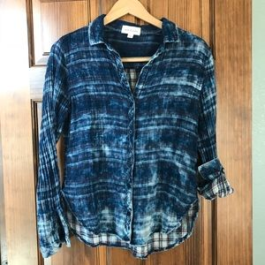 Anthropologie Cloth and Stone plaid blouse